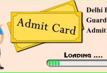 Photo of Delhi Forest Guard Admit Card 2020
