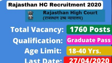 Photo of Rajasthan High Court Recruitment 2020