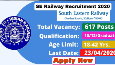 Photo of South Eastern Railway  GDCE Vacancy 2020